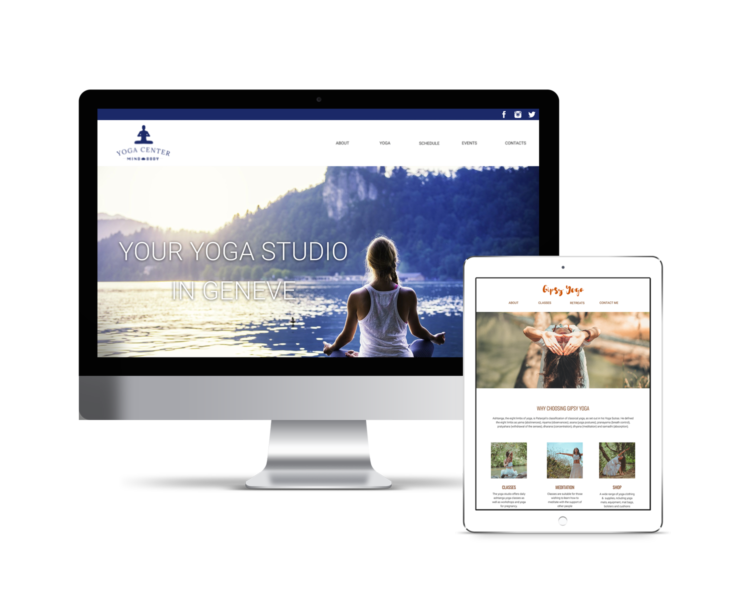 Website design for yoga teachers